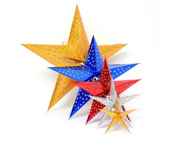 60cm Christmas Star 2015 new hot Decorations Xmas Creative Cute Christmas Tree Home Indoor Ornaments Best Gifts