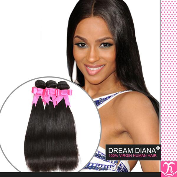 Mocha Produtos para o Cabelo Virgem Brasileiro Do Cabelo Reto De Seda 3 pcs Tissage Bresilienne Hot Beleza Cabelo Top Hair Extensions Rainha Produtos para o Cabelo