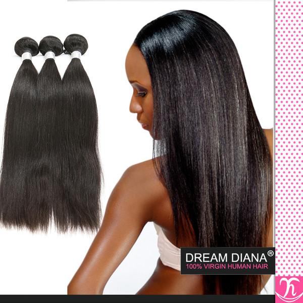 8a Sınıfı Bakire Işlenmemiş Insan Saçı Ipeksi Düz 3 Demetleri Doğal Perulu Vücut dalga Toptan Remy Kraliçe Saç Perulu Bakire Saç