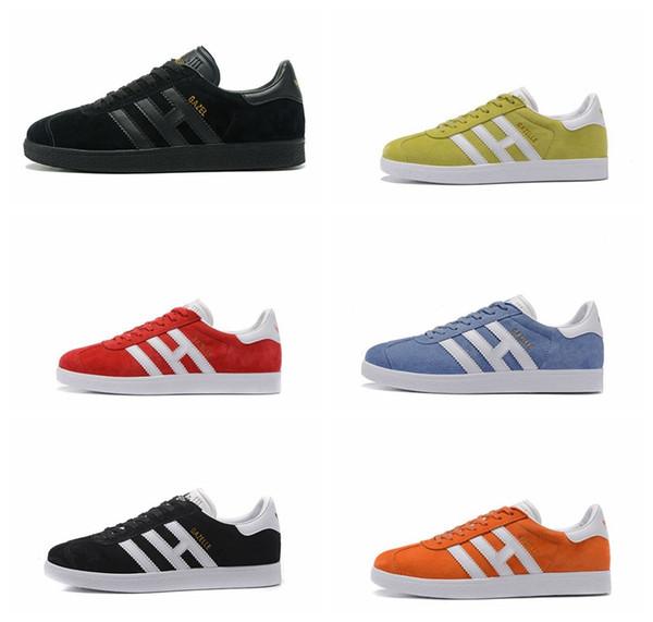 Los mejores zapatos casuales para hombre para mujer Skate blanco 3M Gazelle Pigskin Force One Oxford Fashion Trend plana Tenis Superstar Smith Stan Zapato atlético