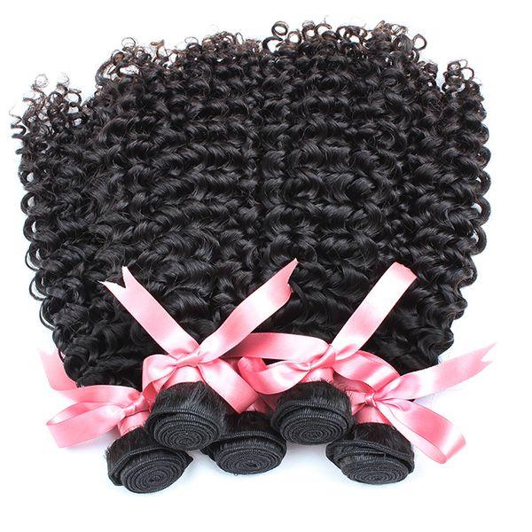 arricciare i capelli vergini brasiliani fasci all'ingrosso capelli umani ricci profondi tessono le estensioni dei capelli ondulati 10 pz / lotto greatremy fabbrica trasporto veloce