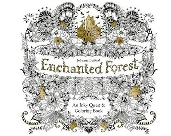 Enchanted Forest Secret Garden An Inky Quest Colouring Book Adult Kids Creative Therapy Drawing Books