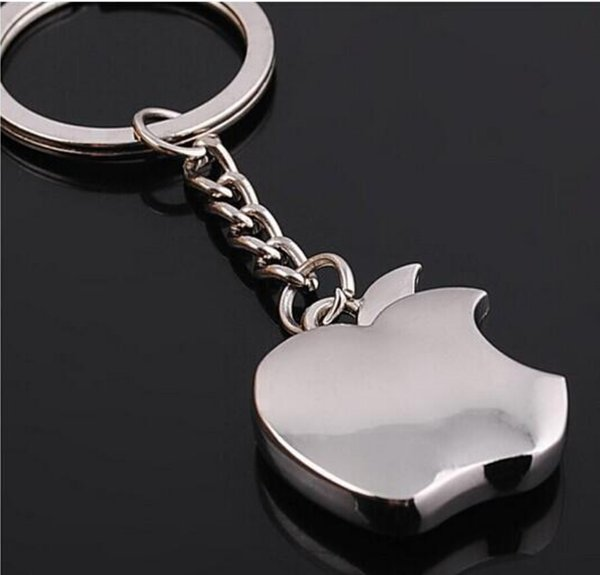top popular Fashion new Zinc Alloy Novelty Souvenir Metal Apple Key Chain Creative Gifts Apple Keychain Key Ring Trinket Wholesale gifts 2019