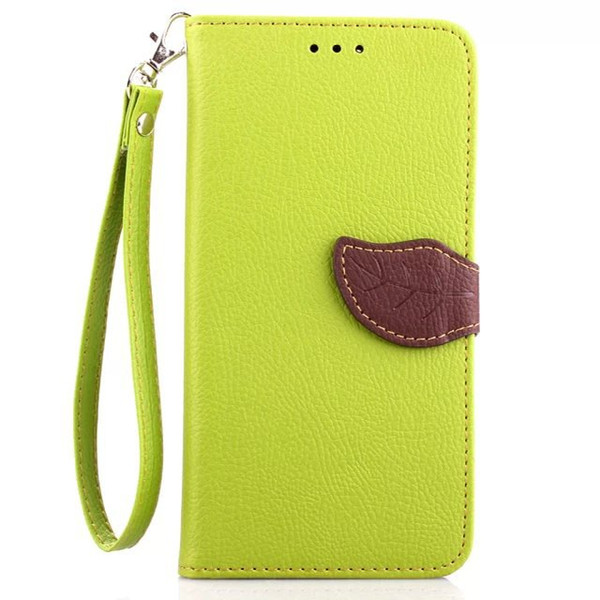 300PCS Leaf Wallet Flip PU Leather Case Stand TPU Cover With Card Slots for Samsung Galaxy S3 S4 S5 S6 Edge S7 Edge No Package free DHL