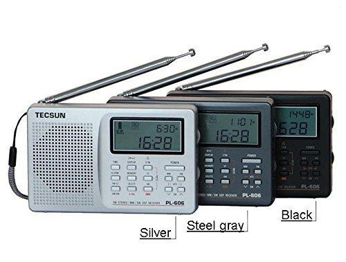 Wholesale-Free Shipping Tecsun PL-606 Digital PLL Portable AM/FM LW/MW/SW multi band Radio Receiver with DSP