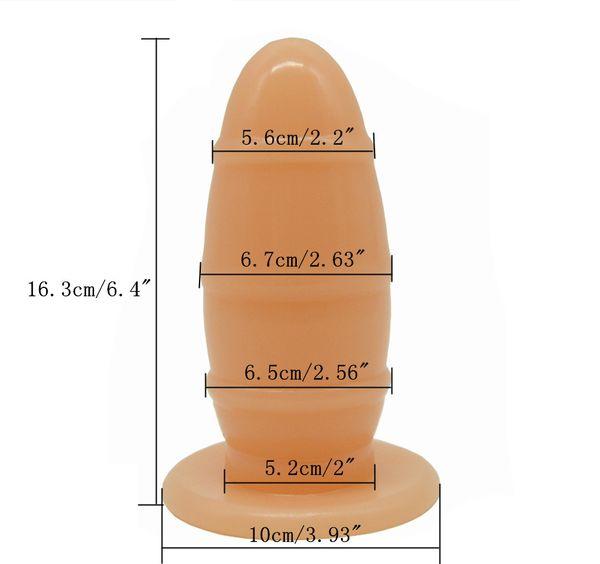 FAAK Big Soft Rugby Anal Plug Vagina Stuff Grand Dildo Femme Masturbate Doll Ass Élargir Homme Adult Game Massage Fétiche Sex Toy