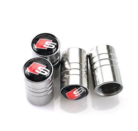 4 шт. / Лот Автомобильные Колеса Шинные Клапаны Шины Air Caps для A3 A4 A5 A7 Q3 Q5 AUDI A1 Q7 Аксессуары стайлинга автомобилей