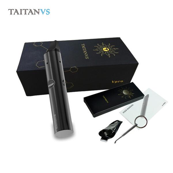 Otantik Taitanvs VPro Kiti vaporizatör vape kalem balmumu V-Pro Seramik Isıtma Odası için Bobinler e sigara kuru balmumu vaprozer titan en çok satan