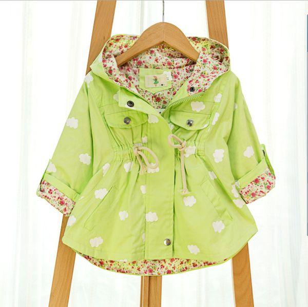 top popular Autumn Jackets For girls New 2015 Korean version Brand Fashion Polka Dot Bat shirt Coat 5pcs lot Children Hoodies CY140 2019