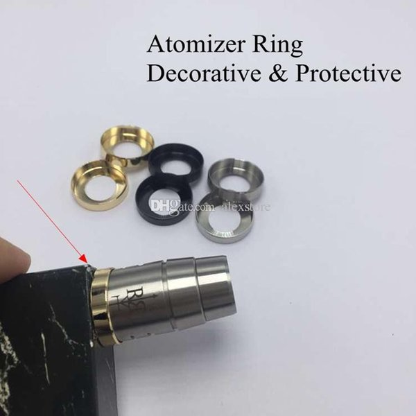 Atomizer Decorative Ring Metal Adapter 22MM Adaptor Bottom Attached 510 thread Connector for Protective Mech Box Mod Vape RDA RBA Silicone