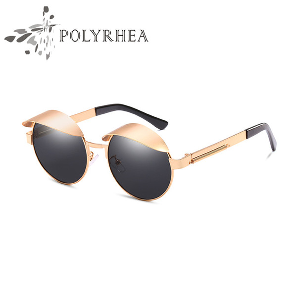 2018 High Quality Original Fashion Ladies Luxury Vintage Brand Designer Retro Sunglasses Circular frame Sun Glasses With Case And Box