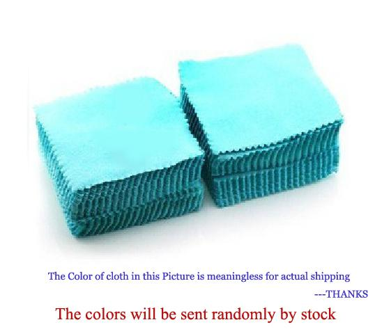 8cm x 8cm Cheapest Double Sides Cotton Flannels Fabric Jewelry Silver Cleaning Cloth, Promotion Cleanner