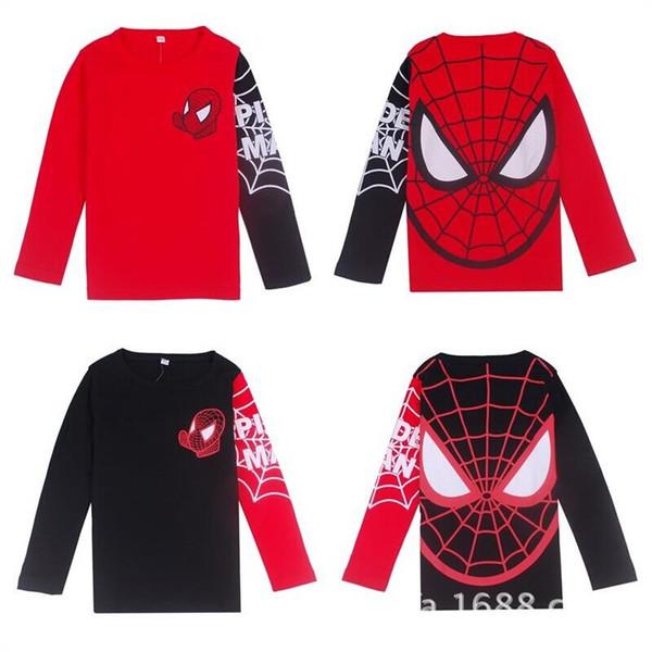 T-shirt a maniche corte T-shirt da uomo T-shirt a maniche lunghe in stile casual Spiderman per bambini