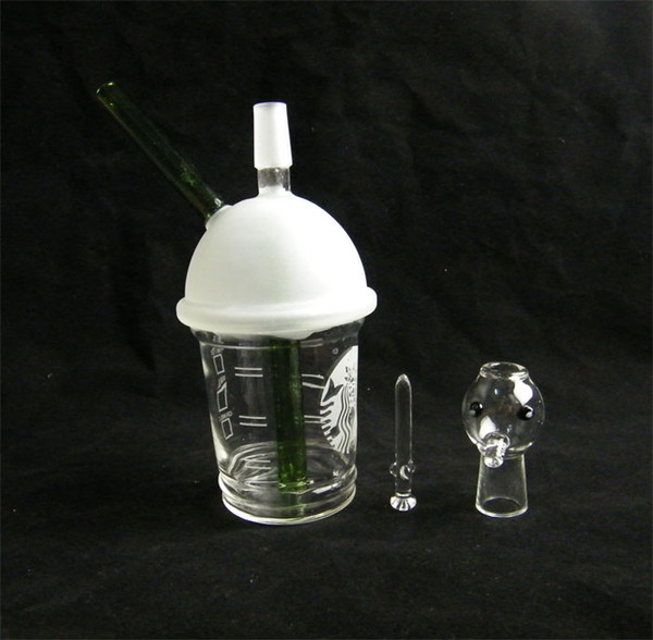 SANDBLASTED DABUCCINO STARBUCKS GLASBUBBLER OIL RIG Dab Konzentrat-Ölplattform HITMAN GLASS X EVOL GLAS DABUCCINO INSPIRIERT CUP RIG