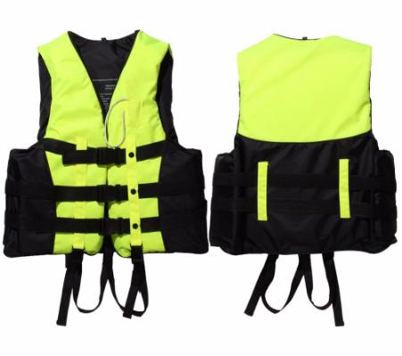 top popular Polyester Adult Life Jacket Universal Swimming Boating Ski Drifting Vest With Whistle Prevention S-XXXL Sizes Swimming Jackets 2019