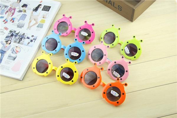 ladybug sunglasses mirror sunglasses baby cute sunglasses cartoon bug sunglasses for Boys and Girls Child free shipping