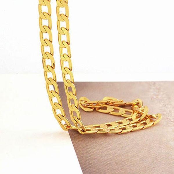 Твердые 14 K желтое золото мужские ожерелье цепь день рождения Валентина подарок ц
