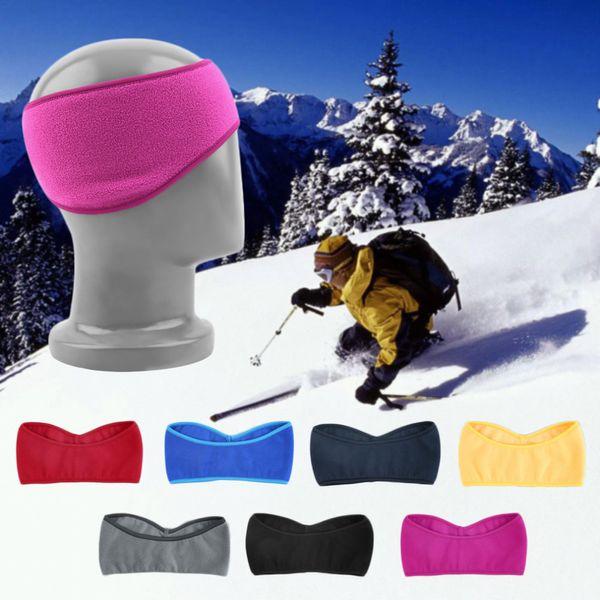 Wholesale-7 Colors Men Women Antistatic Sports Running Cycling Headwrap Headband Ear Muff Warmer Hair Muffs Band Winter 2016 Fashion