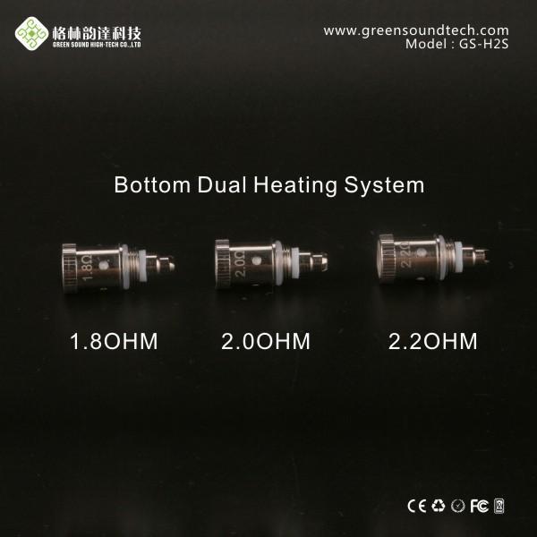 Doppel-Heizspule H2s Spule 1.8ohm 2.0ohm 2.2ohm GS-Fabrik direkt verkaufen H2S-Spule für GS-H2s Zerstäuber und PTS01