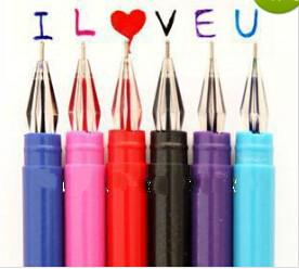 Wholesale-OP-Wholesale mini order $10(mix order) Free Shipping 12 colors diamond gel pen 0.5mm cute stationery popular in South Korea
