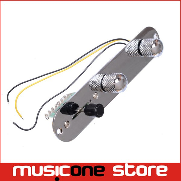 top popular Chrome 3 Way Wired Loaded Prewired Control Plate Harness Switch Knobs for TL Tele Telecaster Guitar accessories MU0604 2019