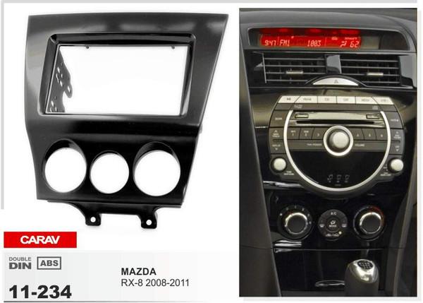 CARAV 11-234 Fascia de radio de alta calidad para MAZDA RX-8 2008-2011 Stereo Fascia Dash Kit de instalación de guarnición de CD