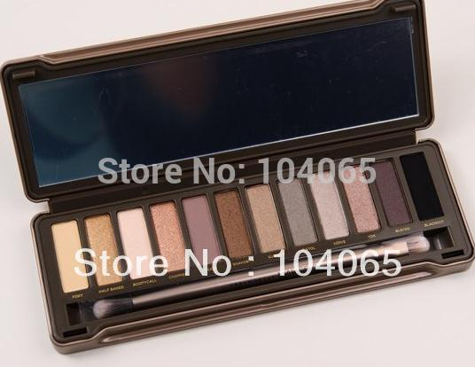 Wholesale-One Pcs Free Shipping New Makeup 12 Colours Eyeshadow eye shadow Palette Wholesale And Retail