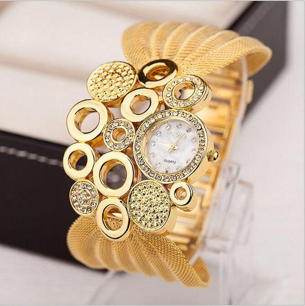 DHL luxe bracelet de mode montre femmes Populaire chaud EU US diamante maille bracelet de montre dames accessoires de mode montres à quartz robe montre-bracelet