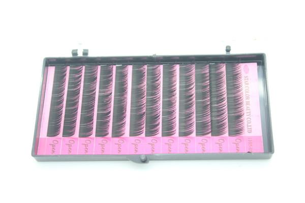 Natutal False Lashes Professional Eyes Makeup Individual Lashes Eyelashes Extension Eyelash Handmade Fake False Eyelashes 0.12C-curl 10mm