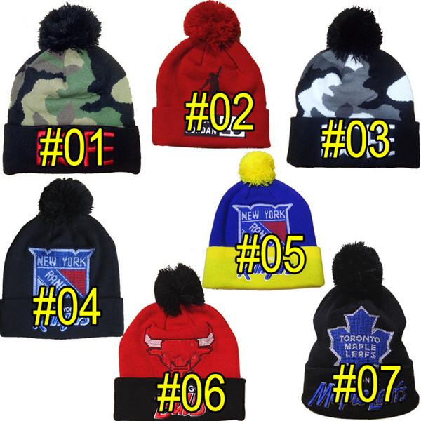 7 Styles Popular Winter Hats hip hop Headgear knit hat wool cap star models Christmas gift hat Beanies Hats A+++++
