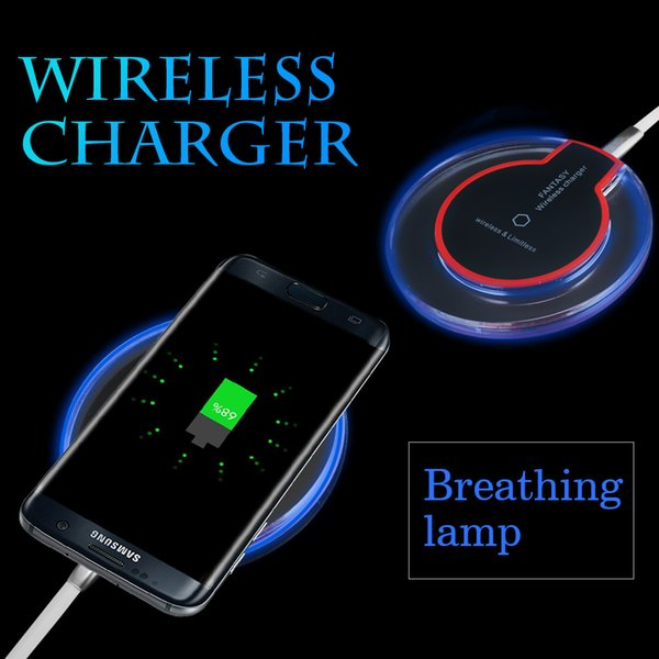 top popular Premium Quality Qi Wireless Charger Pad For iPhone X Dock Charging Charger with USB Cable For Samsung Note 8 S8 S6 Edge with Retail Package 2019