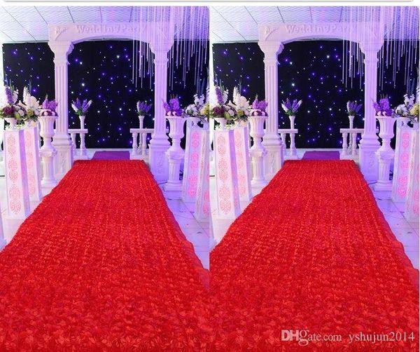 Fashion wedding carpet Backdrop Centerpieces Favors 3D Rose Petal Carpet Aisle Runner For Party Decoration Supplies
