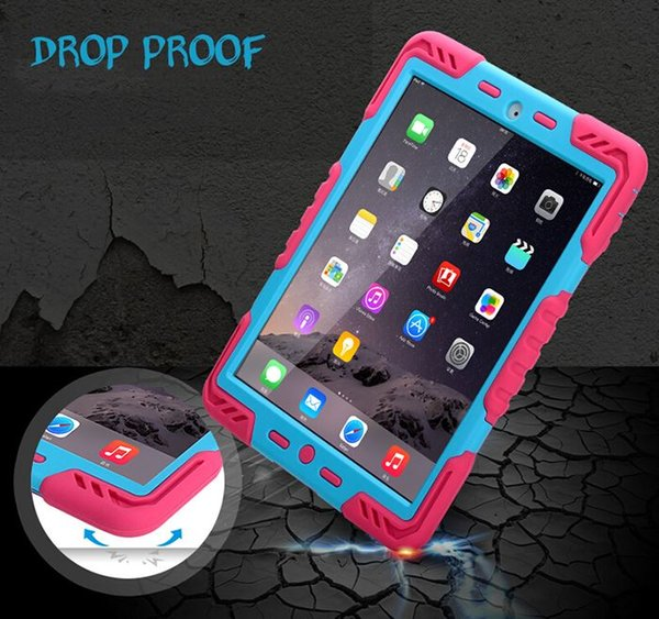 New For iPad Air 2 For iPad 6 Military Heavy Duty Extreme Shockproof Drop proof Hybrid Silicone Rugged Case Cover W/ Package Free Shipping