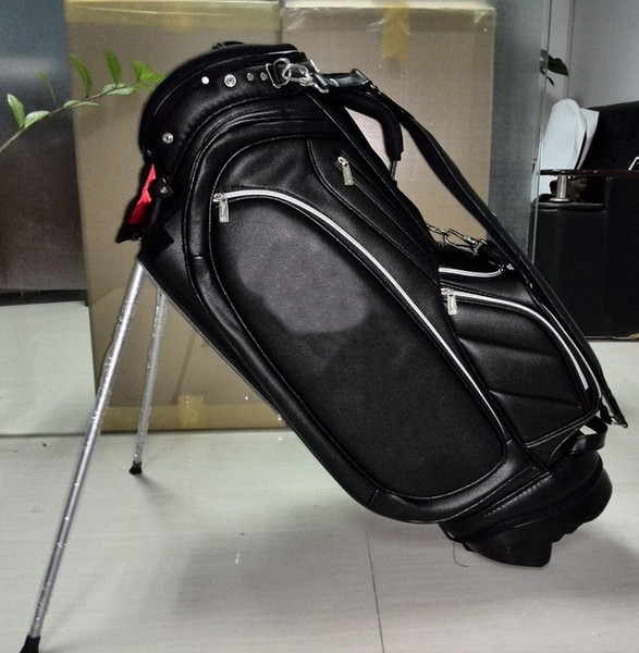"best selling golf stand bag brand PU black Golf cart Bags 9"" in 5 dividers"