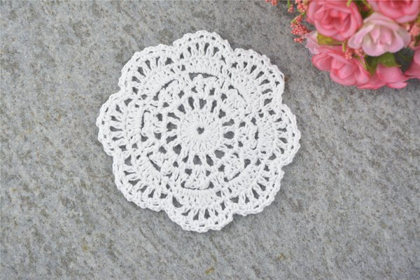 DIY Design Wedding Handmade Crochet Coasters Doily Placemats Crocheted Doilies Size 4 inches 50 PCS/ LOT Custom Color _DSC0221