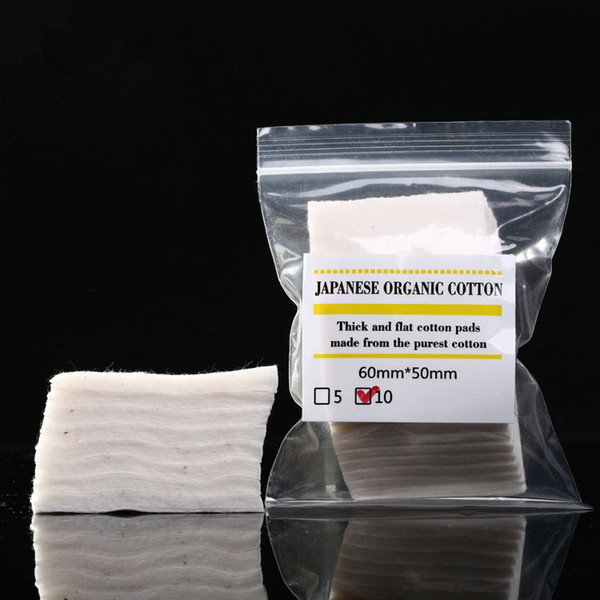 top popular Mini package Authentic Japanese pure organic cotton Wicks cottons fabric japan from MUJI For DIY RDA RBA Atomizer Ecig Coil 10pcs lot DHL 2021