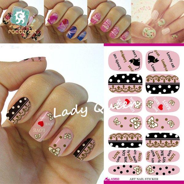 New Arrive Cute Nail Sticker Hello Kitty Design Manicure Decals Minx ...