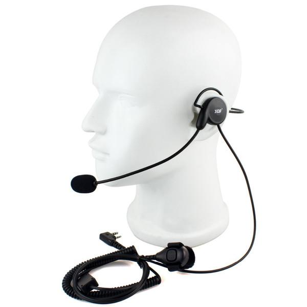 2 Pin Ohrhörer Mic Finger PTT Headset für Kenwood BAOFENG Radios UV-5R 777 888s WOUXUN HYT PUXING Hohe Qualität C2014A Alishow