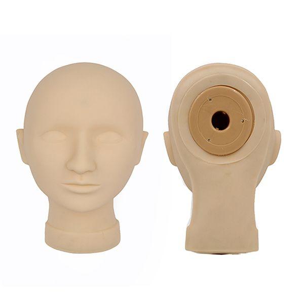 Venta caliente práctica del tatuaje Mannequin Head Permanent Makeup Model Head 2 PCS máscara para el arte de la belleza