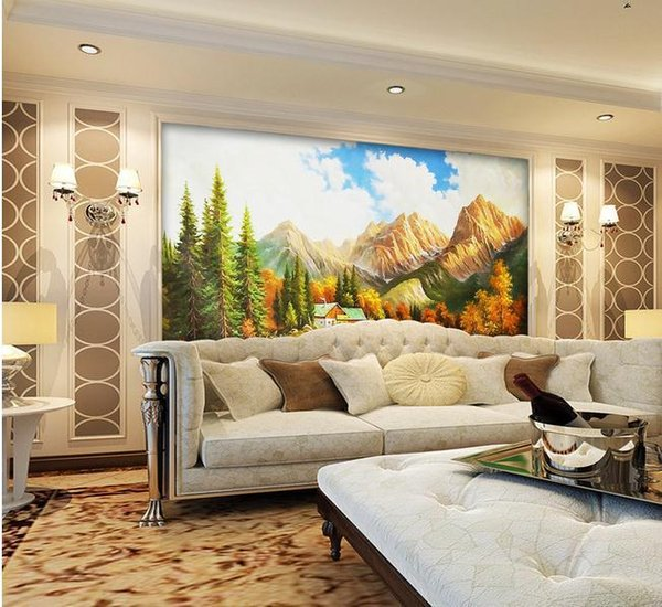 Papel de parede Landscape paintings TV backdrop mural wall sticker new large wallpaper wall paper costomize size 899128
