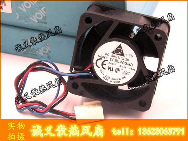 Wholesale- For Delta EFB0405MD -R00 4020 4cm 40mm DC 5V 0.24A 3-pin server inverter speed computer cpu blower axial cooling fans