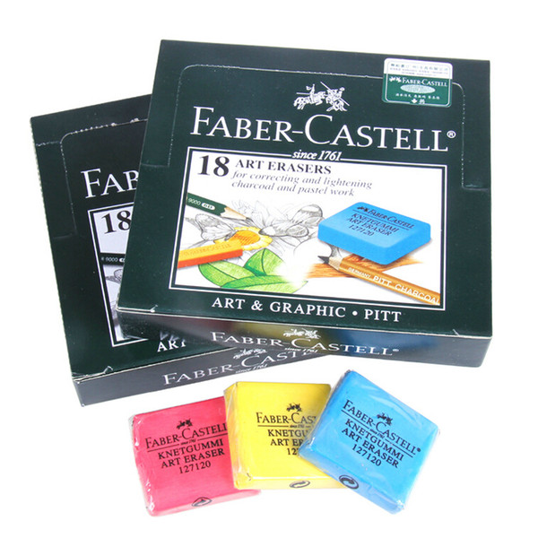 2pcs/lot Faber-Castell Kneadable Rubber Art Sketch Drawing Eraser Pencil Pastel art eraser for correction and lightening