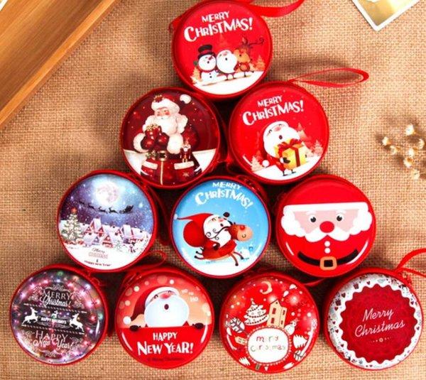Großhandel Nette Weihnachtssüßigkeits Kasten Beutel Geschenk Halter Neues Jahr Münzen Kopfhörer Snack Versorgungsmaterialien Die Partei Dekorationen