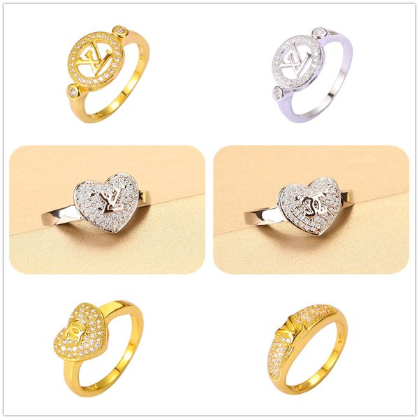 best selling Brand New 24K Gold Plated Rings Classic Accessories Comfort Fit Fine Jewelry Charms CZ For Women Wedding Engagement Party Free Shipping