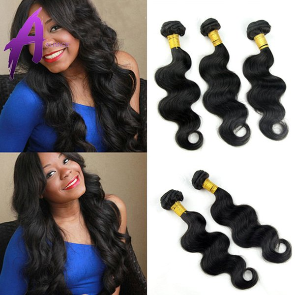 Alimice Grade 6A Unprocessed Malaysian Virgin Hair Body Wave 100% Human Hair Weave Wavy 3Pcs/Lot best Rosa Hair Products Malaysian Body Wave