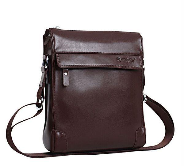 2016 New European Mens Briefcase Cow Leather Aptop Messenger Bag ...