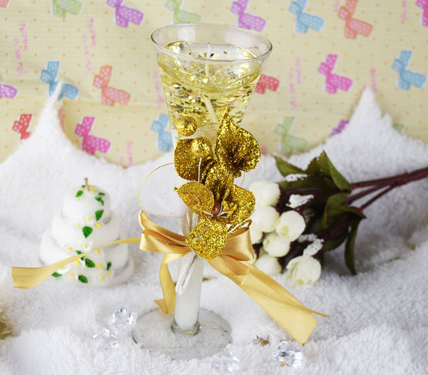 FEIS wholesale 2pcs/set Golden jelly crystal craft valentine's Day candle Candlelight dinner wedding gifts candle Home decorative love