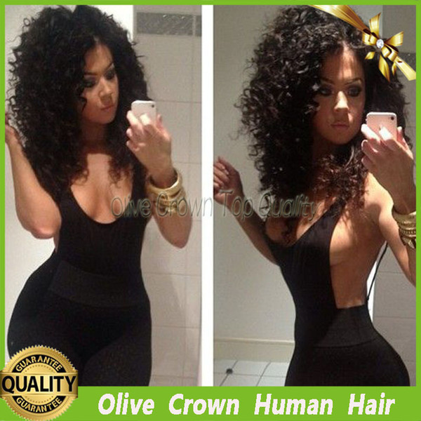 6A Virgin Brazilian Kinky Curly Human Hair Full Lace Wig Unprocessed Glueless Lace Front Wig Jerry Curl For Black Women