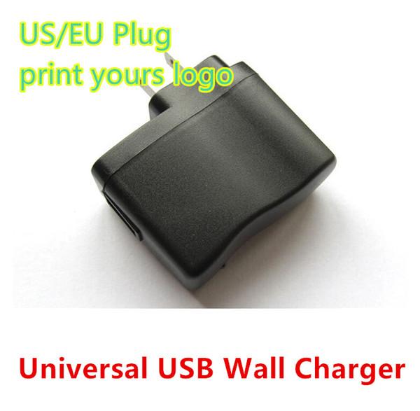 Commercio all'ingrosso 5V 500mAh USB Power caricatore da muro per E Cig cellulare lettore MP3 Smart Watch US EU AC adattatore da parete casa 100 pz / lotto