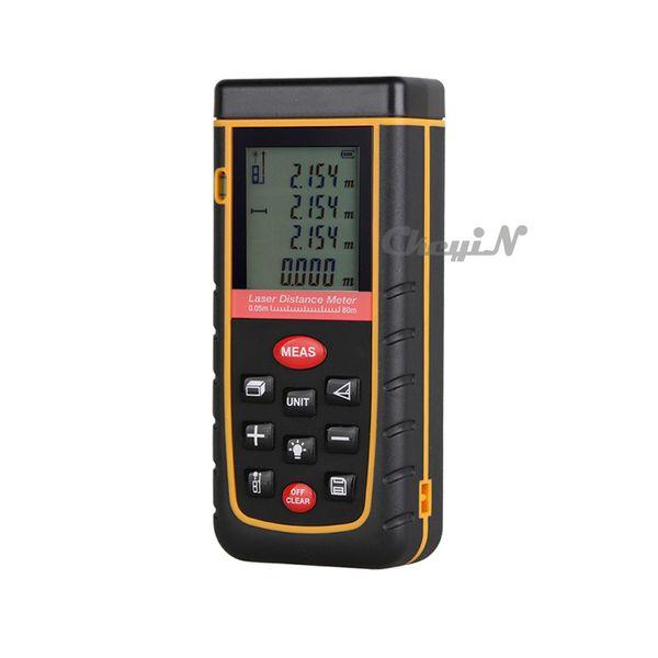 Display LCD retroilluminazione digitale 80M 262FT Laser Distance Meter Range Finder Area / Volume Measure Tape Lazer Telemetro CJY09-P2224